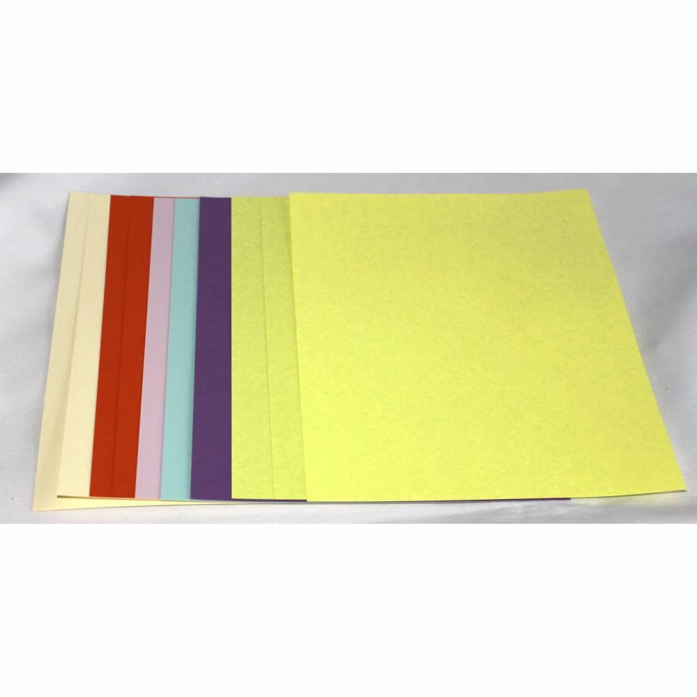10 x Fotokarton A4 bunt Karten basteln Bild 1