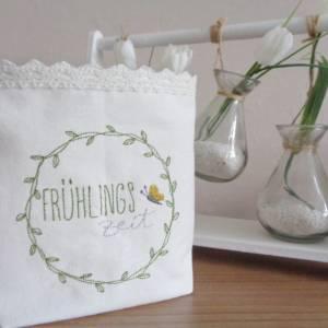 Lichtbeutel - Windlicht - Kerzenglas - Stimmumgslicht - Blumenkranz - Frühlingszeit Bild 1