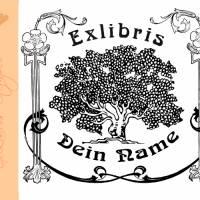 Exlibris Stempel - Ex Libris Stempel Jugendstil Baum - Exlibrisstempel Jugendstil Baum No.exl-10206 Bild 1