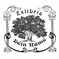 Exlibris Stempel - Ex Libris Stempel Jugendstil Baum - Exlibrisstempel Jugendstil Baum No.exl-10206 Bild 2
