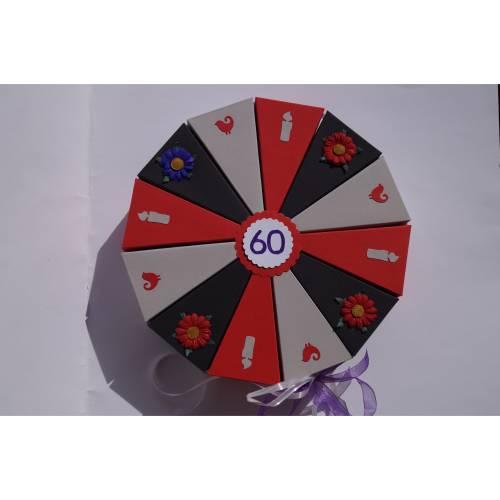 93 Geldgeschenk, Geschenk zum 60. Geburtstag, Geldgeschenkverpackung,  Geschenkschachtel zum Geburtstag,Geburtstagskind