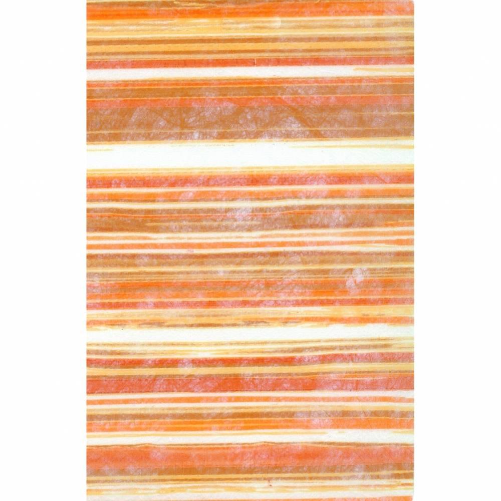 CREApop Design-Vlies Streifen Orange Bild 1