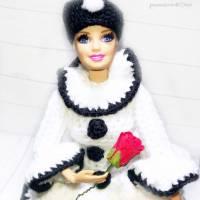 Klorollenhut, Lady Pierrette, Klorollenpuppe, gehäkelt, Pierrot Bild 6