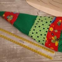 Zipfelmütze gefüttert für Mädchen in rot/grün mit Käfern Bild 1