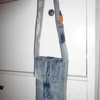 kleine Jeanstasche 'Silvi', Gassitasche, Jeansupcycling, Unikat hessmade Bild 1
