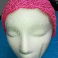 Mütze für Zopf oder Pferdeschwanz gehäkelt Handarbeit pink ca. 48-55 cm Bild 5