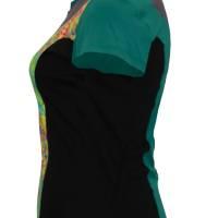 Farbenfrohes Designer T-Shirt _ Eco Fashion Art Print *Seepferdchen* petrol_100% Biobaumwolle _Organic Kurzarm sportlich Bild 3