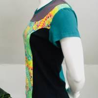 Farbenfrohes Designer T-Shirt _ Eco Fashion Art Print *Seepferdchen* petrol_100% Biobaumwolle _Organic Kurzarm sportlich Bild 4