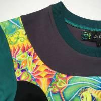 Farbenfrohes Designer T-Shirt _ Eco Fashion Art Print *Seepferdchen* petrol_100% Biobaumwolle _Organic Kurzarm sportlich Bild 8