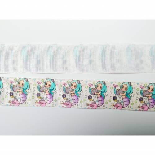 Ripsband 25mm Meerjungfrau