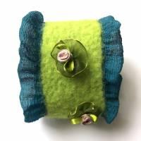 Armband gefilzt mit Seidenchiffon Bild 1