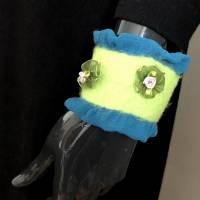 Armband gefilzt mit Seidenchiffon Bild 5