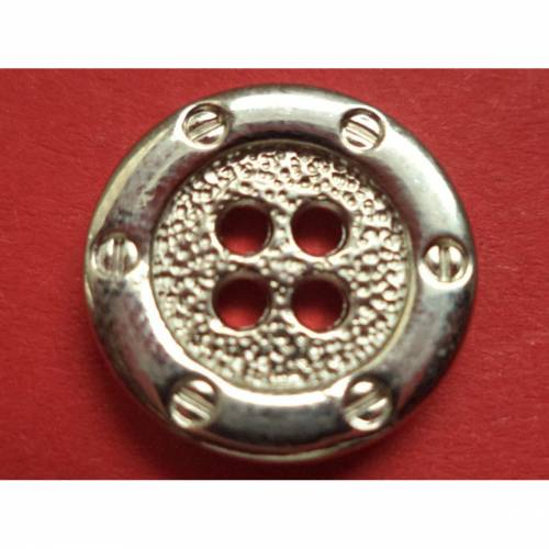 silberne Metallknöpfe 16mm (2630)