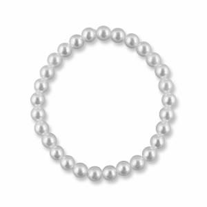 Brautschmuck Armband, Perlenarmband weiß creme, Kleine Perlen, Stretcharmband, Gummizug, Hochzeitsschmuck, Brautarmband Bild 1