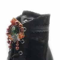 Schuhclips mit Schmetterling und Perlen Bild 1