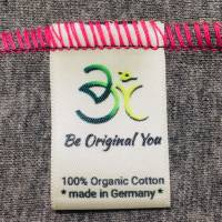 Farbenfrohes Designer T-Shirt _ Eco Fashion Art Print *Seerose* pink/grau_100% Biobaumwolle _Organic Kurzarm sportlich Bild 10
