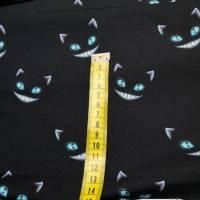 Grinse Katze Grinser schwarz Baumwolljersey Jersey Meterware Bild 2