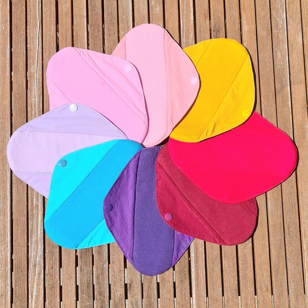 4er Set waschbare Stoffbinden für Zero Waste Monatshygiene, bei Inkontinenz / Blasenschwäche Bild 1