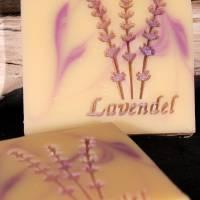 Lavendel Schrift Seifenstempel Bild 2