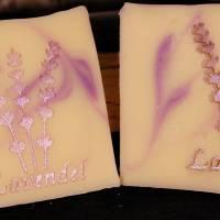 Lavendel Schrift Seifenstempel Bild 3