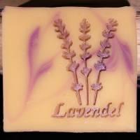 Lavendel Schrift Seifenstempel Bild 7