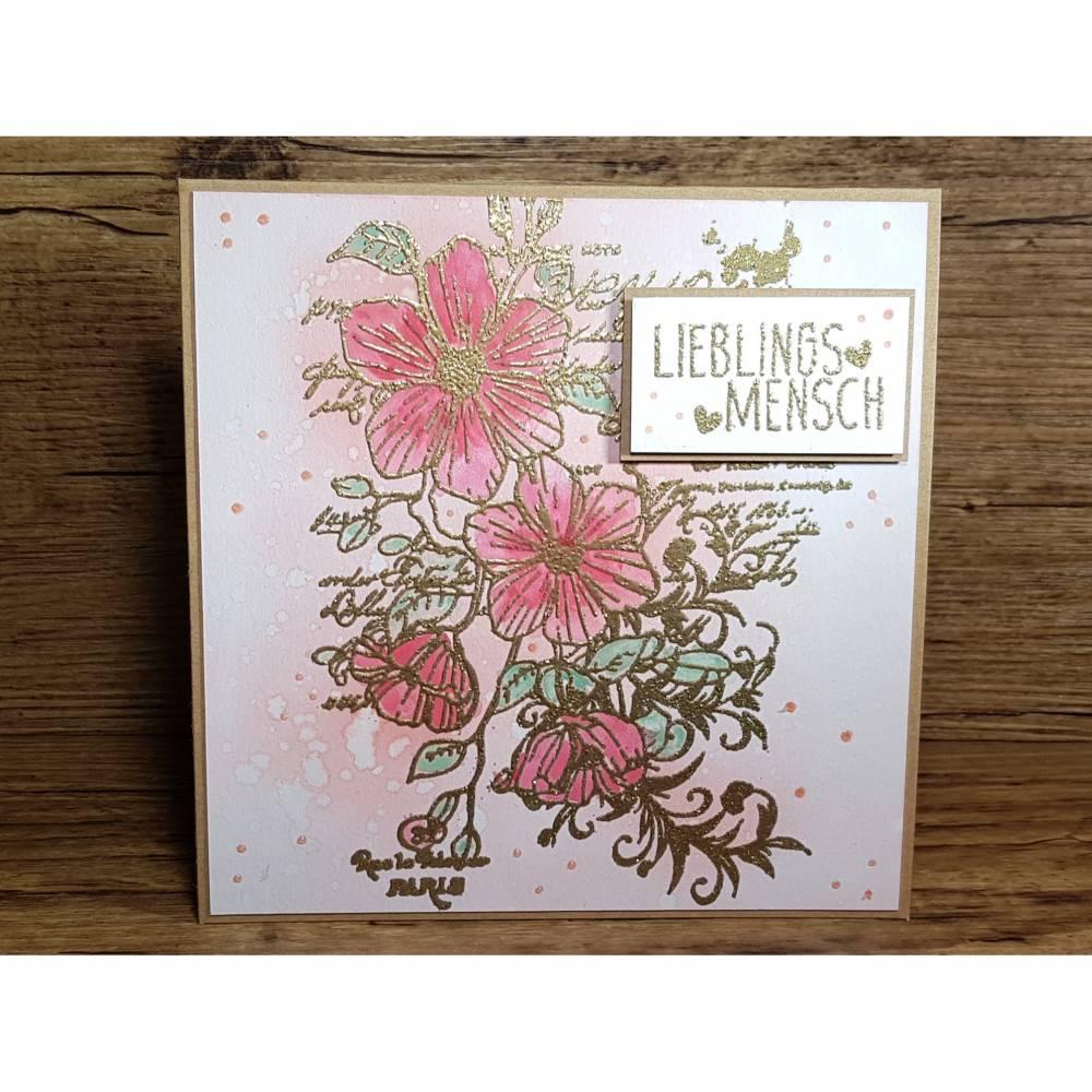 Grußkarte Lieblingsmensch, Geburtstagskarte, Geschenkkarte, Post für dich Bild 1