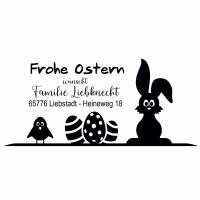 """Personalisierter Osterstempel """"Frohe Ostern"""", Oster Stempel personalisiert - Osterstempel - MO-100025 Bild 1"""