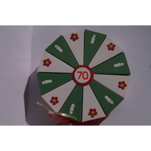 92 Geldgeschenk, Geschenk zum 70. Geburtstag, Geldgeschenkverpackung,  Geschenkschachtel zum Geburtstag,Geburtstagskind