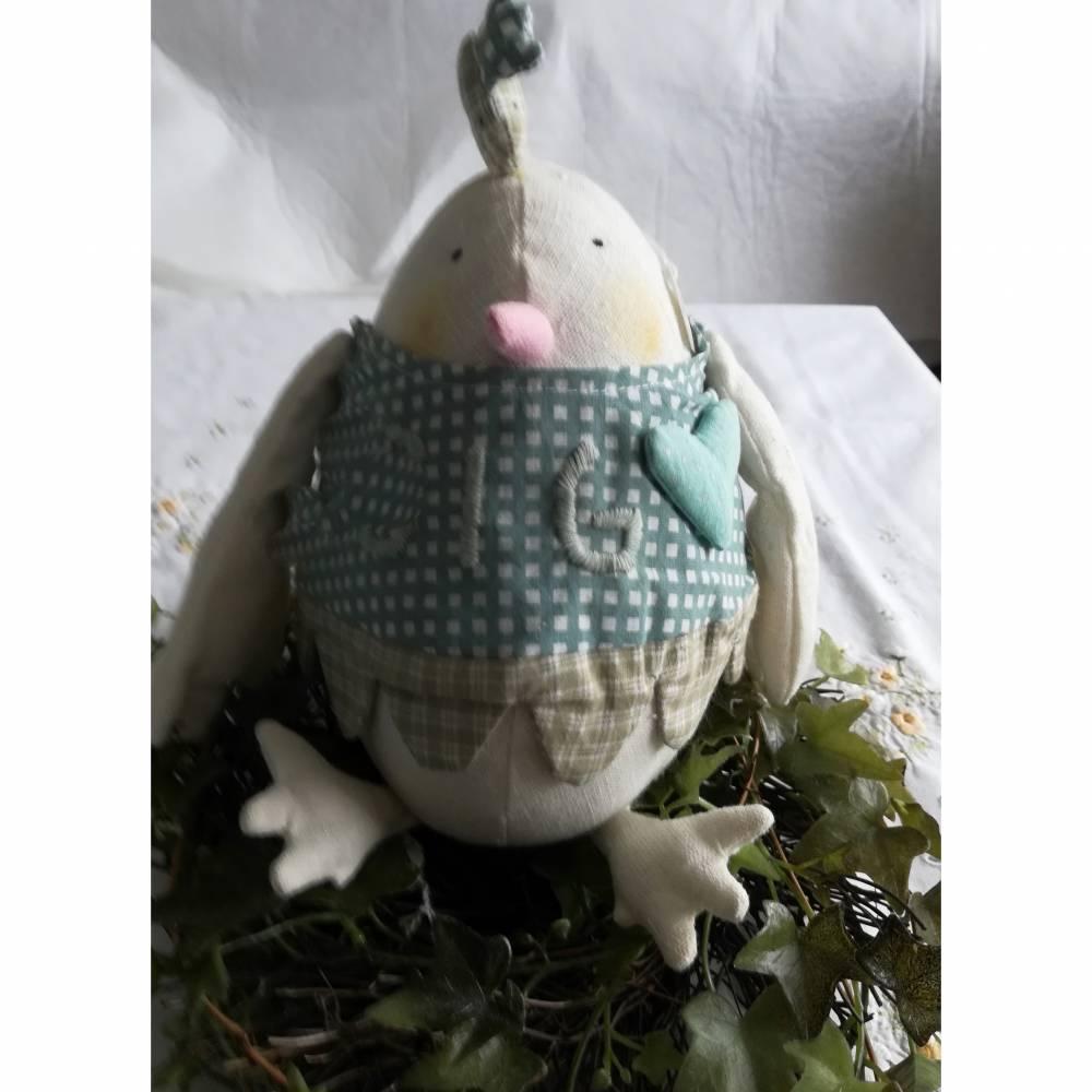 Warum nicht mal ein Ei zu Ostern?  Dickes Stoffei für Ihre Osterdeoration Bild 1