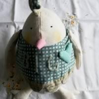 Warum nicht mal ein Ei zu Ostern?  Dickes Stoffei für Ihre Osterdeoration Bild 2
