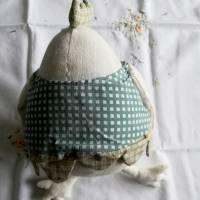 Warum nicht mal ein Ei zu Ostern?  Dickes Stoffei für Ihre Osterdeoration Bild 3