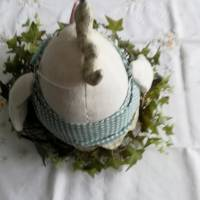 Warum nicht mal ein Ei zu Ostern?  Dickes Stoffei für Ihre Osterdeoration Bild 4