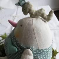 Warum nicht mal ein Ei zu Ostern?  Dickes Stoffei für Ihre Osterdeoration Bild 5