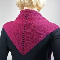 Dreieckstuch, Schultertuch, Halstuch, Schal, Strick lila pink Bild 5