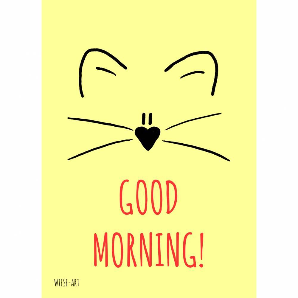 Cat good morning Bild 1