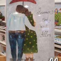 """Selbstgemaltes Nell-Motiv als Leinwanddruck """"Zusammen sind wir Alles"""" Bild 1"""