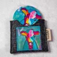 """Taschenspiegel """"Hübsche-Kuh"""" 59 mm mit Filztäschchen Set Bild 1"""