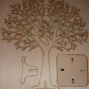 Hochzeitsbaum, Fingerabdruckbaum, Erinnerungsbaum, Holz Baum mit Herzanhängern Bild 6