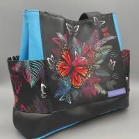 Tasche Motiv Schmetterling 28x33x12 cm Bild 1