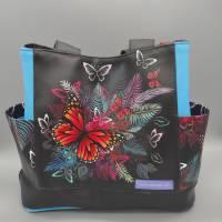 Tasche Motiv Schmetterling 28x33x12 cm Bild 2