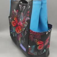 Tasche Motiv Schmetterling 28x33x12 cm Bild 3