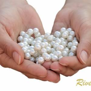 Perlenarmband edel, Perlen weiß creme, Swarovski Kristalle, Stretcharmband Perlen, Hochzeit Armband Braut, Brautschmuck Bild 4