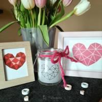 Plotterdatei geometric heart Bild 2