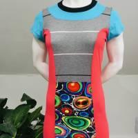 Farbenfrohes Designer Kleid _ Fashion Art Print _100% Baumwolle _Jersey T- Shirt Kurzarm sportlich Bild 4