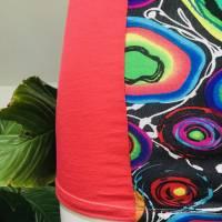 Farbenfrohes Designer Kleid _ Fashion Art Print _100% Baumwolle _Jersey T- Shirt Kurzarm sportlich Bild 7