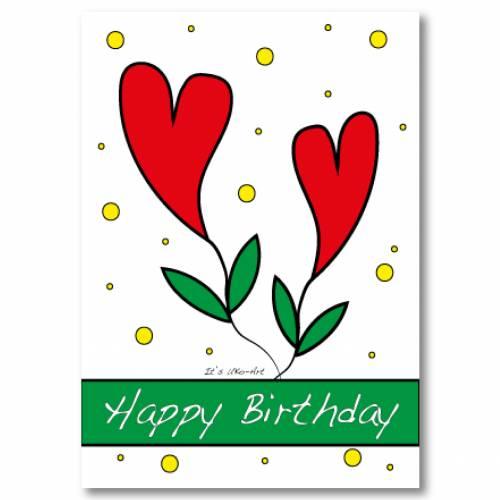 Karte zum Geburtstag, Geburtstagskarte mit Umschlag