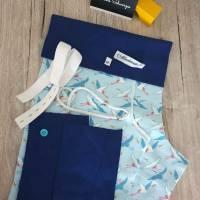 Rundum-sorglos Nähset Pumphose, hellblauer Sommersweat, diverse Größen, DIY Paket Bild 1
