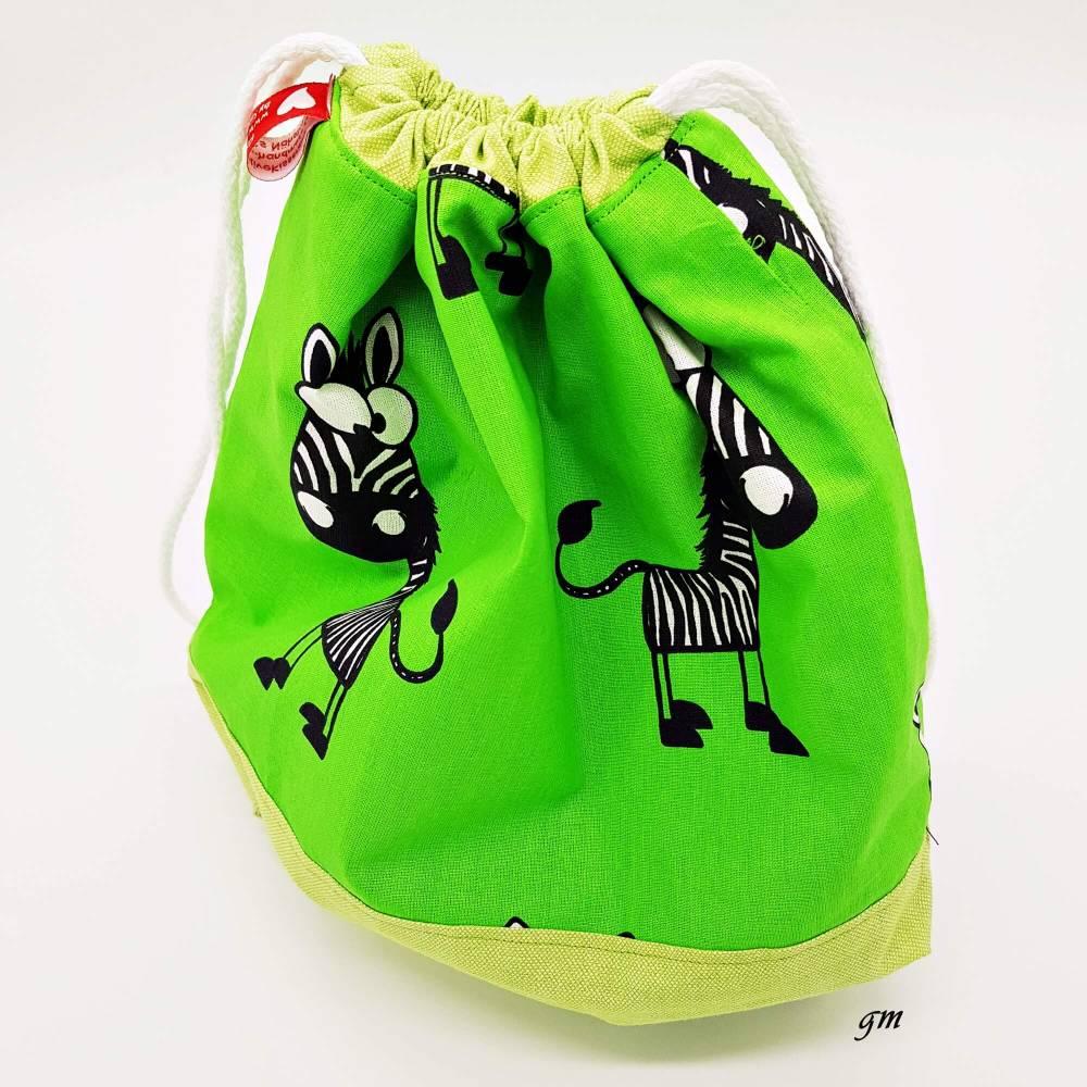 verpacke Deine Geschenke nachhaltig in einem Stoffbeutel, waschbar und super geeignet auch für Spielsachen aufbewahren. Bild 1
