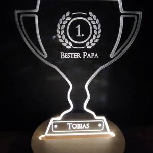 Personalisierbare Lampe Pokal LED Bild 1