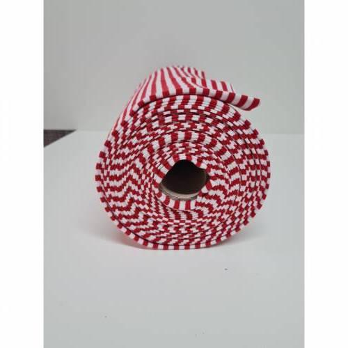 Strickbündchen gestreift rot / weiss